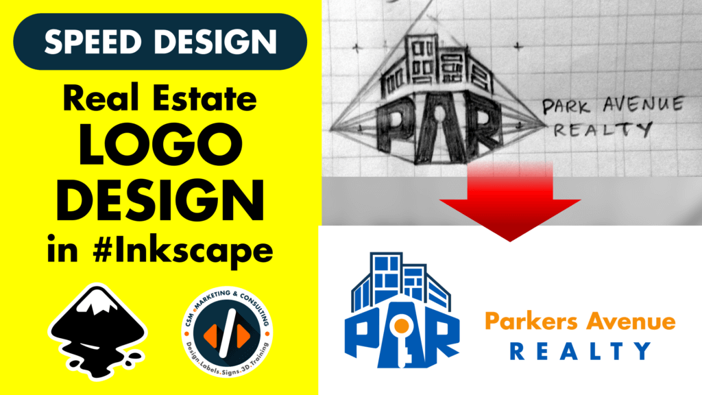 Youtube-thumbnail-template-inkscape-logo-design-parkers-ave-realty Png