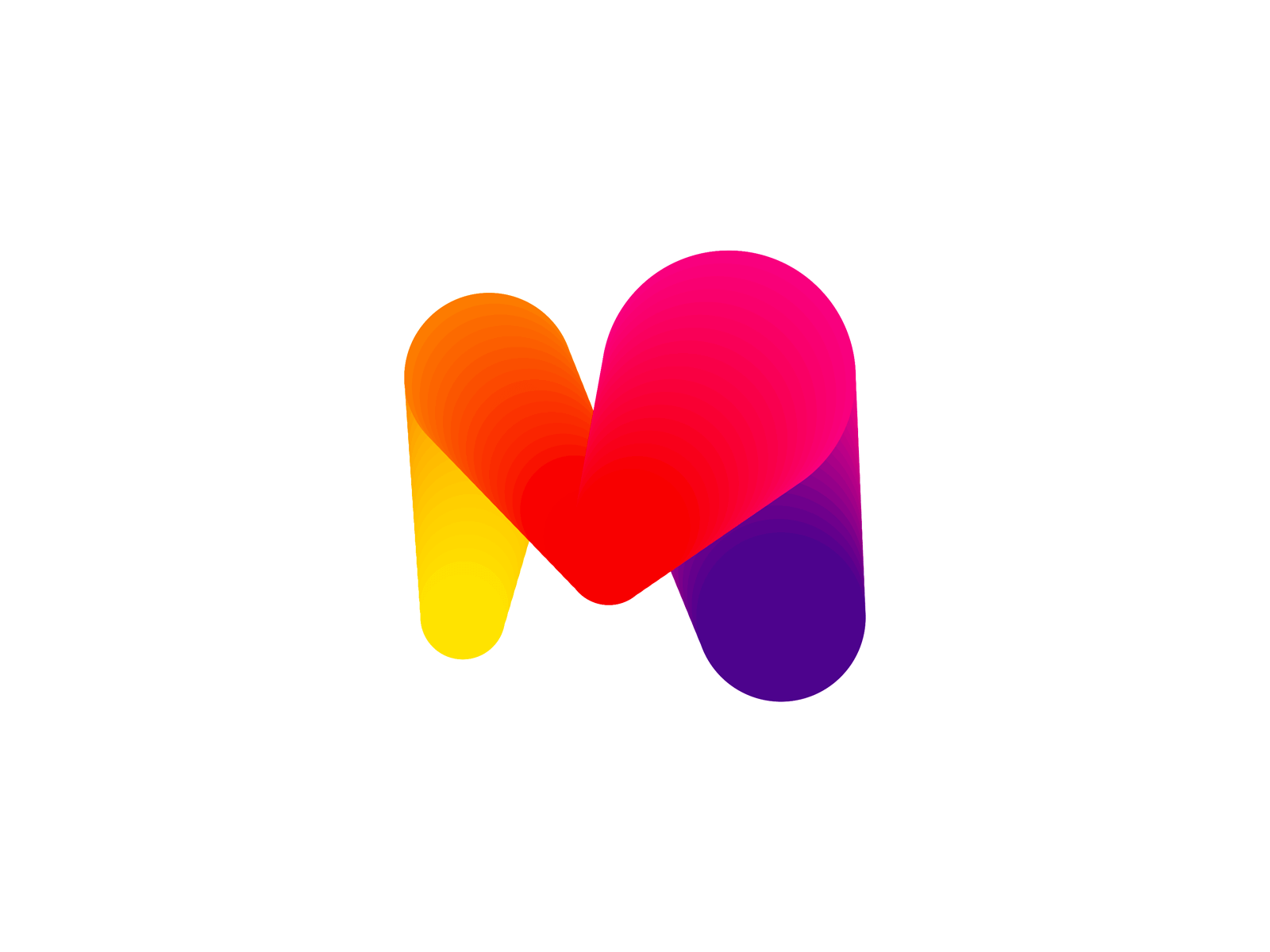 My Love Heart M Letter Mark Monogram Logo Design By Alex Tass 4x Png